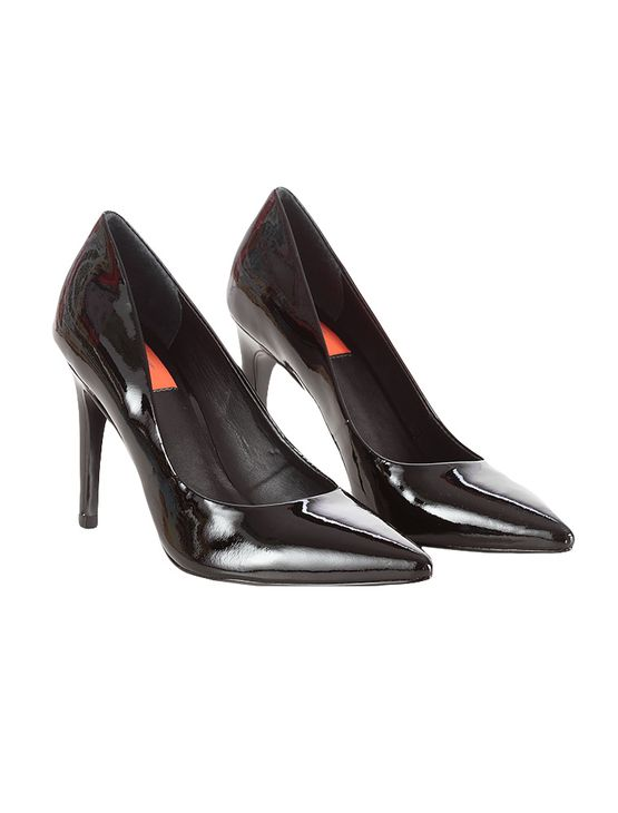Sapato-Scarpin-Calvin-Klein-Jeans-Verniz-Couro-Preto