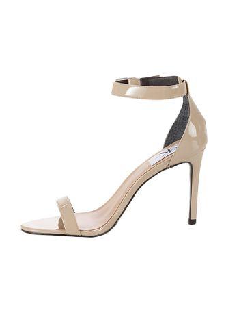 Sandalia-Tiras-Calvin-Klein-Jeans-Couro-Verniz-Caqui-Claro