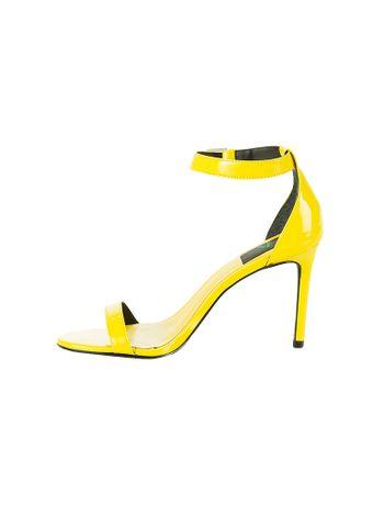 Sandalia-Tiras-Calvin-Klein-Jeans-Couro-Verniz-Amarelo-Ouro