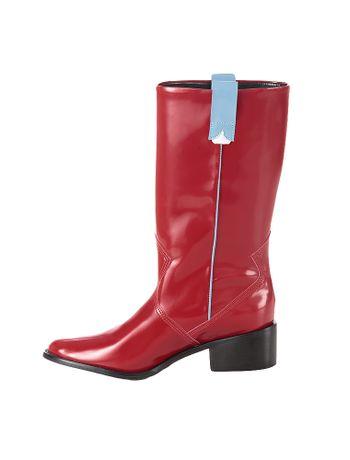 Bota-Cano-Alto-Calvin-Klein-Jeans-Western-Vermelho