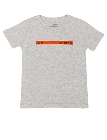 Camiseta-Infantil-Calvin-Klein-Jeans-Estampa-Frente-Costas-Mescla