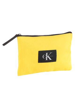 Necessaire-Grande-Lona-Calvin-Klein-Jeans-Amarelo-Ouro