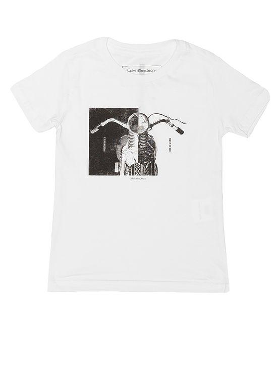 Camiseta-Infantil-Calvin-Klein-Jeans-Estampa-Frontal-Branco
