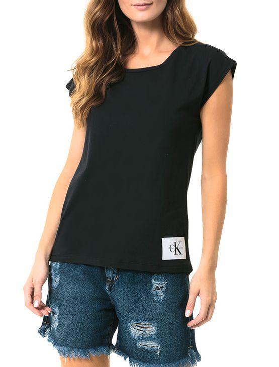 Blusa-Calvin-Klein-Jeans-Com-Etiqueta-Na-Barra-Preto