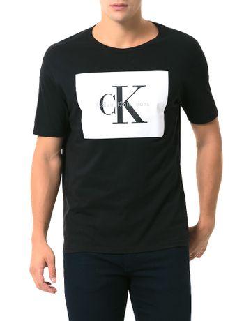 Camiseta-Calvin-Klein-Jeans-Estampa-Etiqueta-Ck-Preto