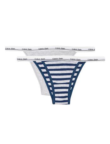 Kit-2-Calcinhas-Tanga-String-Calvin-Klein-Underwear-Elastico-Logo-Branco