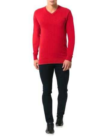 Tricot-Basico-Calvin-Klein-Gola-V-Vermelho