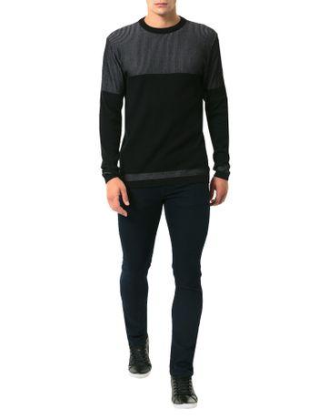 Tricot-Calvin-Klein-Contraste-De-Fios-Preto