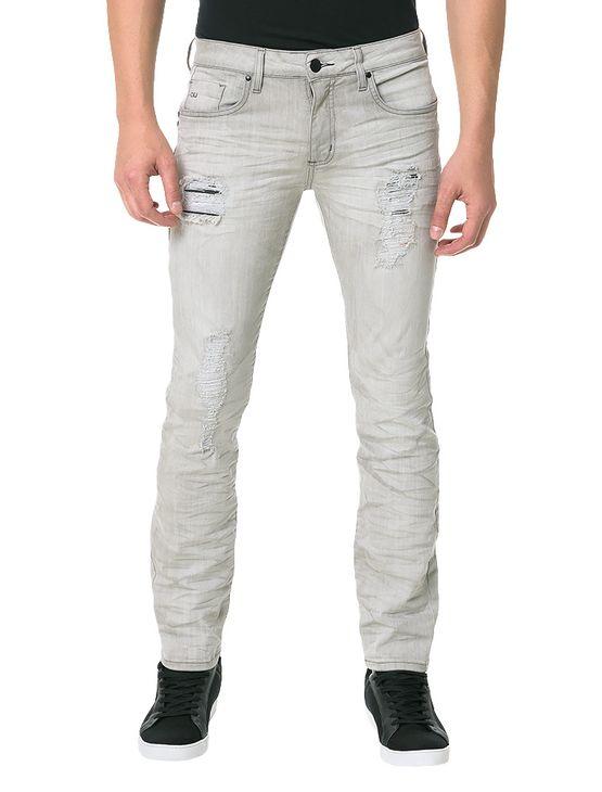 Calca-Calvin-Klein-Jeans-Skinny-Five-Pockets-Cinza-Claro
