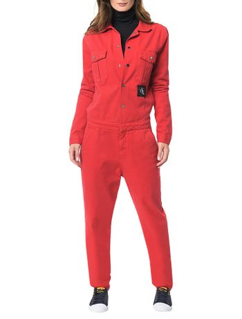 Macacao-Color-Calvin-Klein-Jeans-Straight-Vermelho