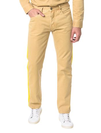 Calca-Color-Calvin-Klein-Jeans-Five-Pockets-Straight-Caqui-Claro