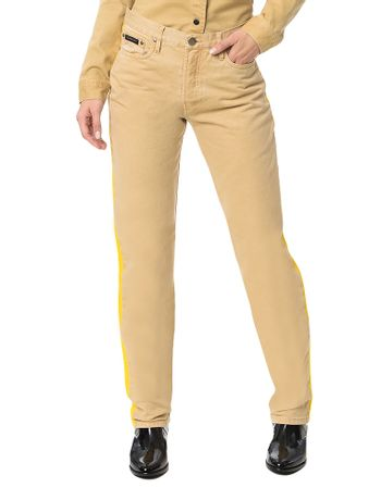 Calca-Color-Calvin-Klein-Jeans-5-Pckts-Straight-High-Caqui-Claro