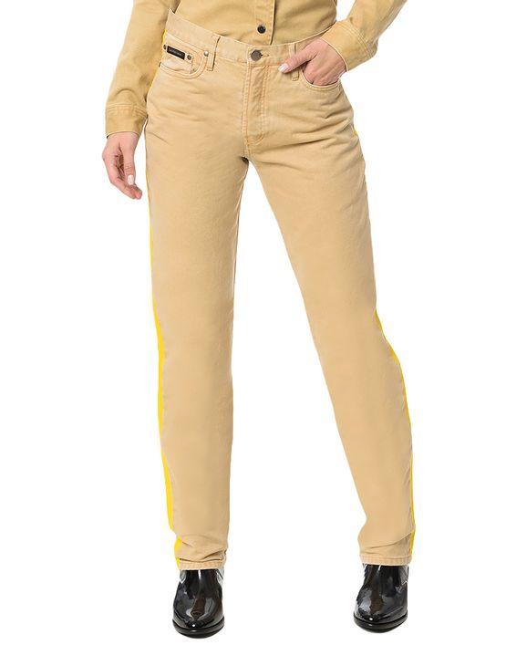 Calca-Color-Calvin-Klein-Jeans-5-Pckts-Straight-High-Caqui-Claro
