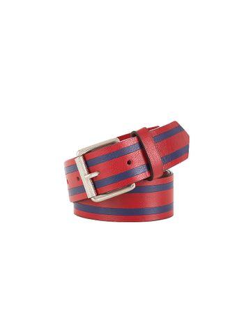 Cinto-Largo-Calvin-Klein-Jeans-Couro-Faixas-Bicolor-Vermelho
