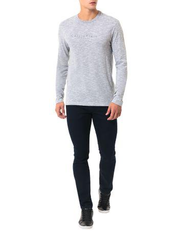 Camiseta-Calvin-Klein-Flame-Mescla-Logo-Espacado-Branco