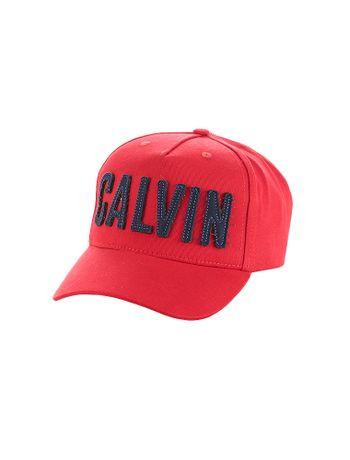 Bone-Calvin-Klein-Jeans-Calvin-Bold-Patch-Vermelho