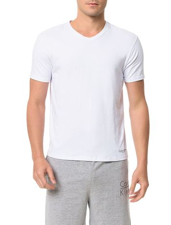 Kit-2-Camisetas-De-Cotton-Calvin-Klein-Underwear-Gola-V-Preto---Branco