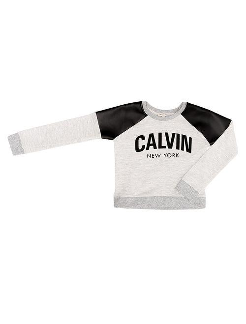 Blusa Infantil Calvin Klein Jeans Recortes Cirré Mescla