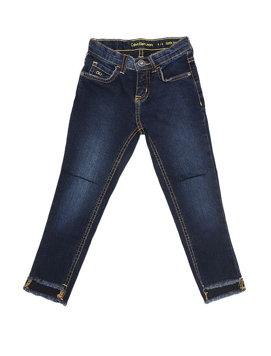 Calca-Jeans-Infantil-Calvin-Klein-Jeans-Five-Pockets-Super-Skinny-Marinho