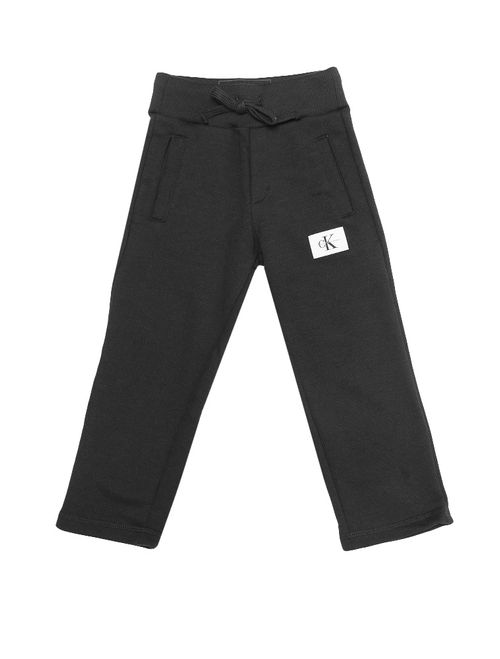 Calça Moletom Infantil Calvin Klein Jeans Etiqueta Logo Preto