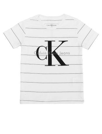 Camiseta-Infantil-Calvin-Klein-Jeans-Estampa-Logomarca-Branca