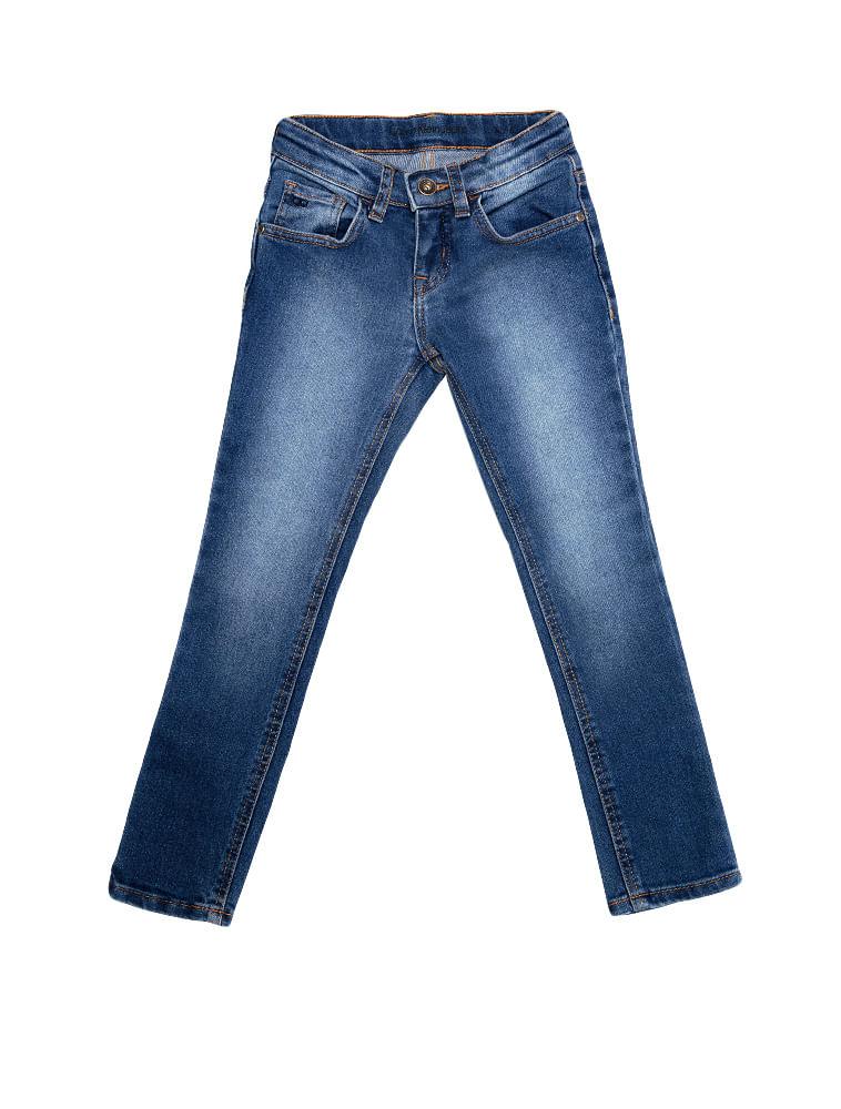 4ad1c4ccca7b9 Calca-Jeans-Infantil-Calvin-Klein-Jeans-Five-Pockets-Super-Skinny-Azul-Medio