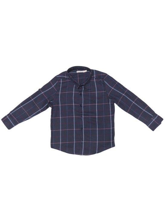 Camisa-Infantil-Calvin-Klein-Jeans-Logo-Bordado-Marinho
