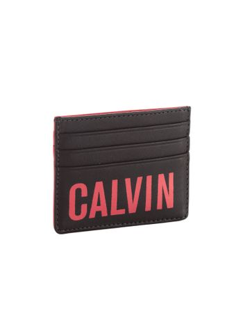Porta-Cartao-Calvin-Klein-Jeans-Napa-Logo-Pop-Preto
