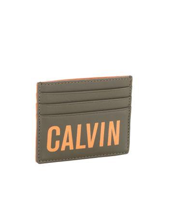 Porta-Cartao-Calvin-Klein-Jeans-Napa-Logo-Pop-Militar
