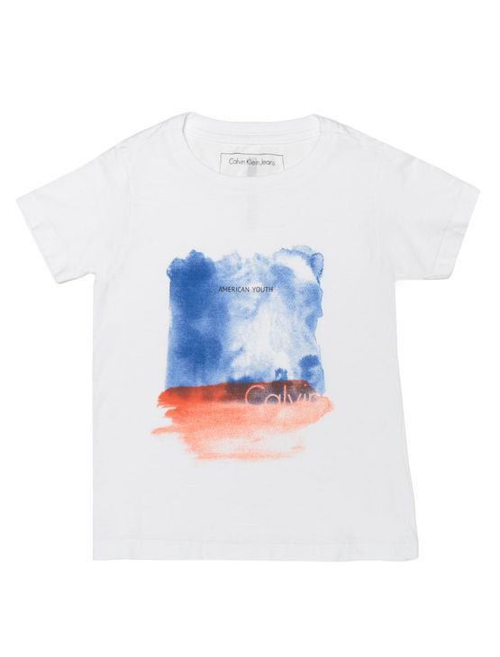 Camiseta-Infantil-Calvin-Klein-Jeans-Estampa-Manchas-Branco