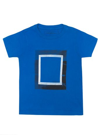 ce00da6fa0 Camiseta Infantil Calvin Klein Jeans Estampa Copa Azul Carbono ...