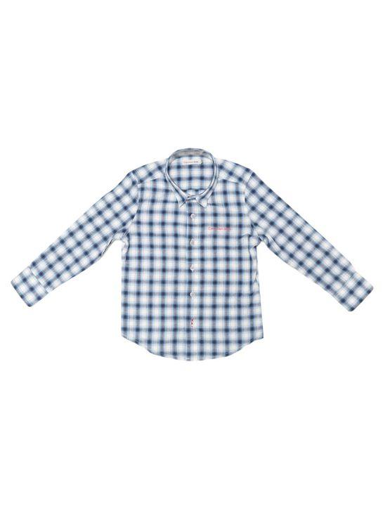 Camisa-Infantil-Calvin-Klein-Jeans-Xadrez-Mescla-Azul-Royal