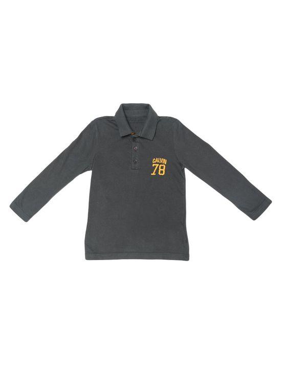 Polo-Infantil-Calvin-Klein-Jeans-Bordado-Peito-Grafite