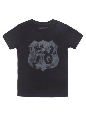 Camiseta-Infantil-Calvin-Klein-Jeans-Estampa-Placa-Preto
