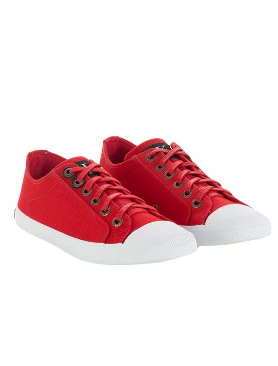 Tênis Calvin Klein Jeans Lona CK Re Issue Vermelho - Calvin Klein 1218b0c407