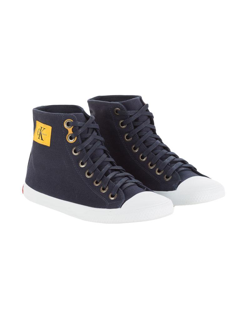 Tênis Calvin Klein Jeans Cano Alto Lona Re Issue Marinho - Calvin Klein 2cf363261c