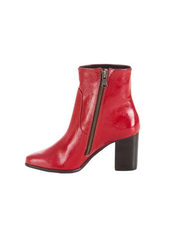 Bota-Cano-Medio-Calvin-Klein-Jeans-Verniz-Vermelho