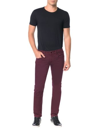 Calca-Calvin-Klein-Jeans-Coordenada-Power-Stretch-Skinny-Bordo