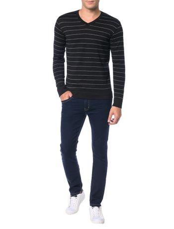 Sueter-Calvin-Klein-Jeans-Listrado-Diferente-Preto