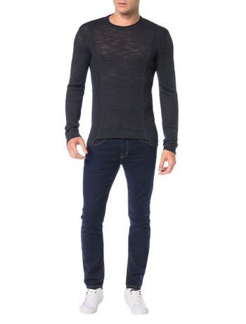 Sueter-Calvin-Klein-Jeans-Flame-Long-Marinho