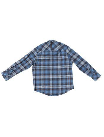 Camisa-Infantil-Calvin-Klein-Jeans-Xadrez-E-Logo-Bordado-Marinho