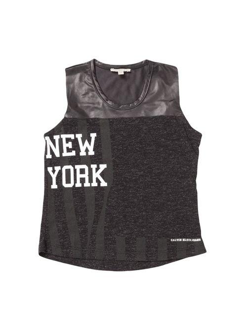 Blusa Infantil Calvin Klein Jeans New York Preto
