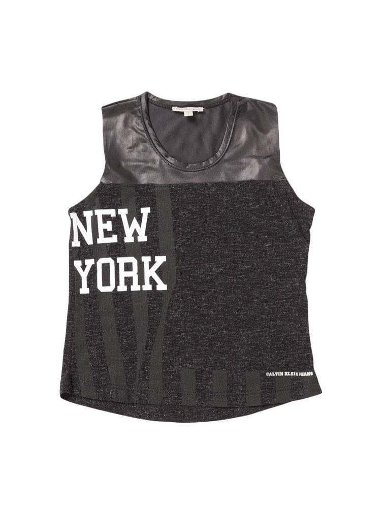0598b5d66f465b Blusa Infantil Calvin Klein Jeans New York Preto