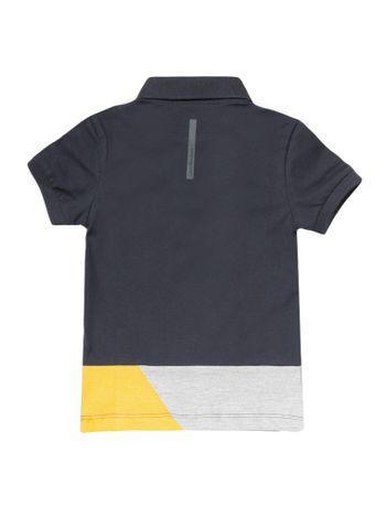 Polo-Infantil-Calvin-Klein-Jeans-Recortes-E-Logo-Marinho