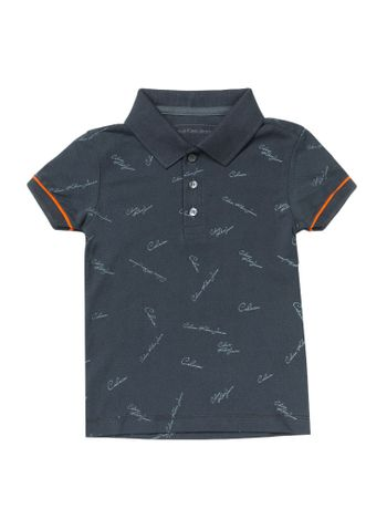 Polo-Infantil-Calvin-Klein-Jeans-Estampa-Mini-Logos-Marinho