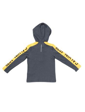 Camiseta-Infantil-Calvin-Klein-Jeans-Recorte-Manga-Estampado-Marinho