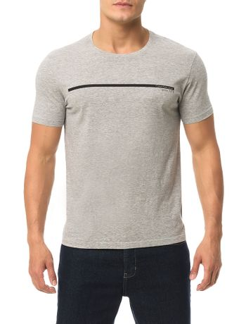Camiseta-Calvin-Klein-Jeans-Estampa-Logo-Palito-Mescla