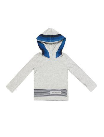 Camiseta-Infantil-Calvin-Klein-Jeans-Est-Frontal-E-Costas-Mescla