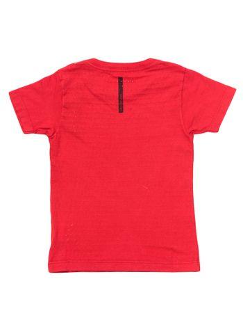 Camiseta-Infantil-Calvin-Klein-Jeans-Estampa-Frontal-Vermelha