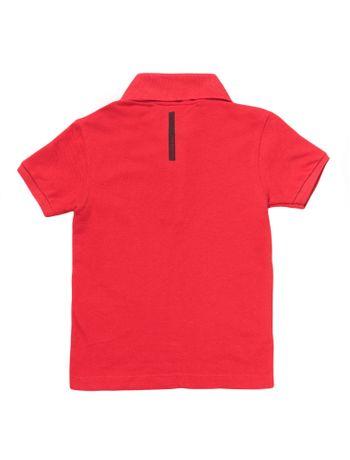 Polo-Infantil-Calvin-Klein-Jeans-Etiqueta-Logo-Vermelho